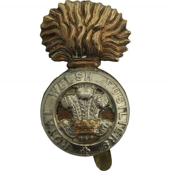 Royal Welsh Fusiliers WW1 Royal Welsh Fusiliers Regiment RWF Cap Badge - FIRST PATTERN