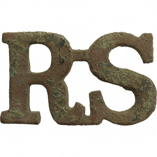 Royal Scots UK Dug Detecting Find - Royal Scots Regiment Relic Shoulder Title Badge