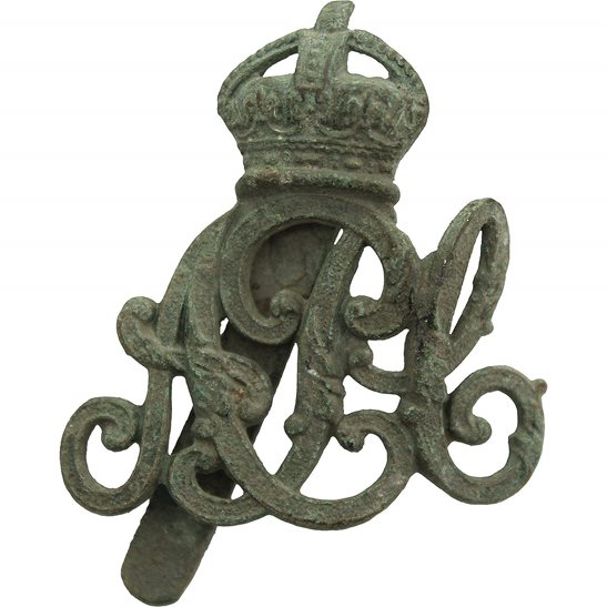 Army Pay Corps APC UK Dug Detecting Find - WW1 Army Pay Corps APC Relic Cap Badge