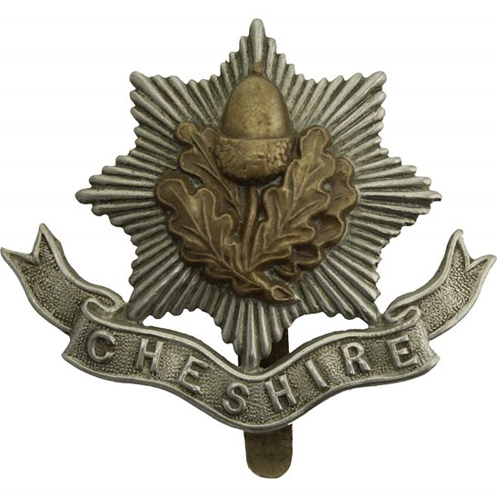 Cheshire Regiment WW1 Cheshire Regiment Cap Badge - FIRST PATTERN