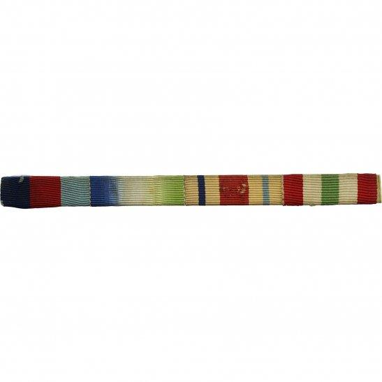 WW2 Medal Ribbon Bar - 1939-45 Star, Atlantic, Africa & Italy - PIN BACK
