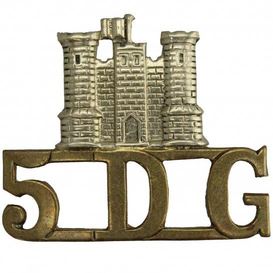 5th Dragoon Guards 5th Royal Inniskilling Dragoon Guards Irish Regiment Shoulder Title 5DG