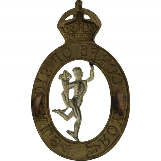 additional image for WW2 Royal Corps of Signals RCOS Cap Badge