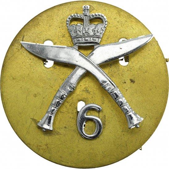 Gurkha Rifles 6th Gurkha Rifes Regiment CHROME Cap Badge - Queens Crown