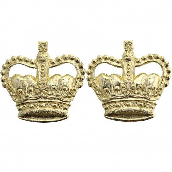 Officers Staybrite Epaulette Insignia Crown Rank Pips PAIR - MAJOR Pair