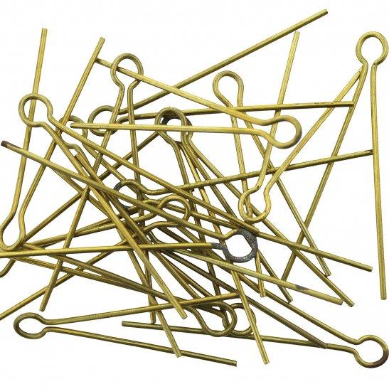 20x Cotter Split Pins for Cap Badges / Collar / Shoulder Titles OLD STOCK FROM GAUNT