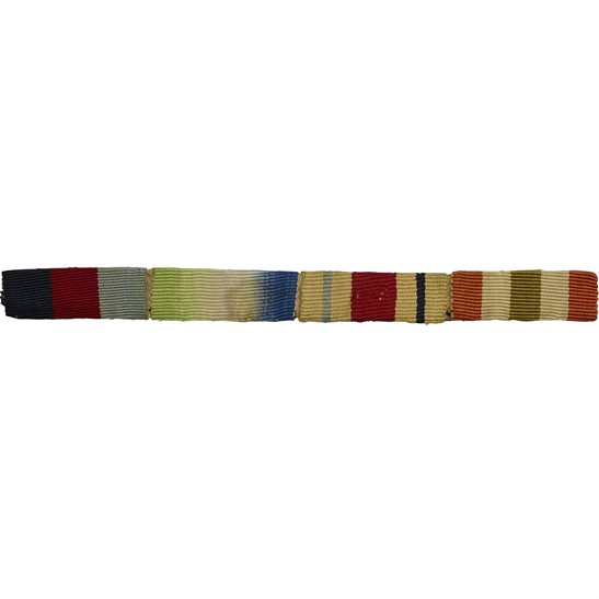 WW2 Medal Ribbon Bar - 1939-45 Star, Atlantic, Africa & Italy - SEW ON