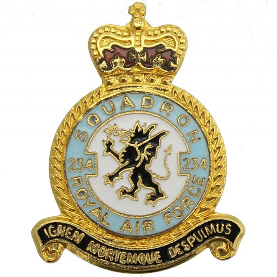 RAF Squadrons 234 Squadron Royal Air Force RAF Lapel Badge