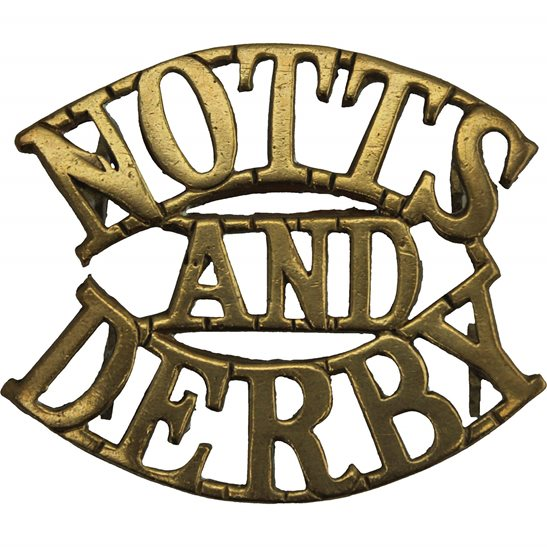 Notts and Derby WW1 Notts and Derby (Sherwood Foresters) Regiment Shoulder Title