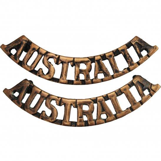 WW1 Australian Army Australian Division / Australia Corps Shoulder Title PAIR