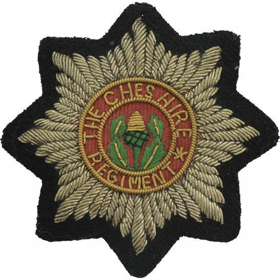 Cheshire Regiment The Cheshire Regiment Cloth Wire BULLION Veterans Blazer Badge