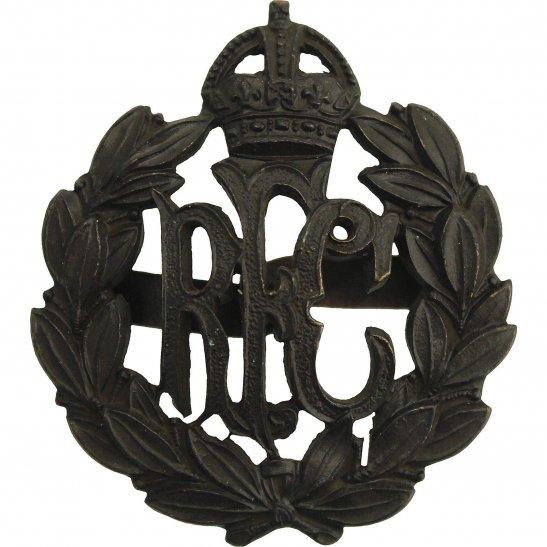 Royal Flying Corps RFC WW1 Royal Flying Corps RFC OFFICERS Bronze Cap Badge - J.R.GAUNT LONDON