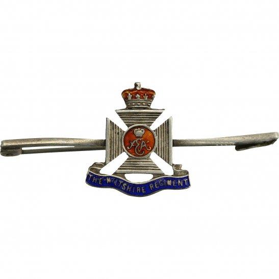 Wiltshire Regiment Wiltshire Regiment STERLING Silver Sweetheart Brooch Badge