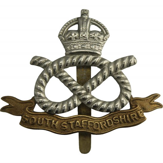 South Staffordshire WW1 South Staffordshire Regiment Cap Badge