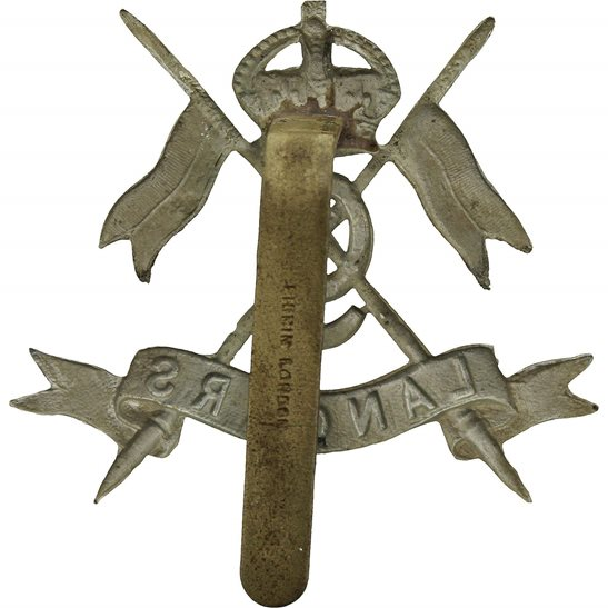 additional image for WW1 9th Queens Royal Lancers Regiment Cap Badge - FIRMIN LONDON Makers Mark