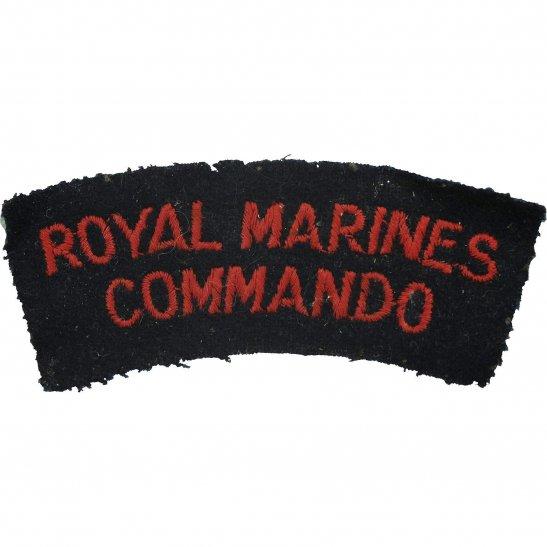 Royal Marines WW2 Royal Marines Commando Corps Cloth Shoulder Title Badge Flash