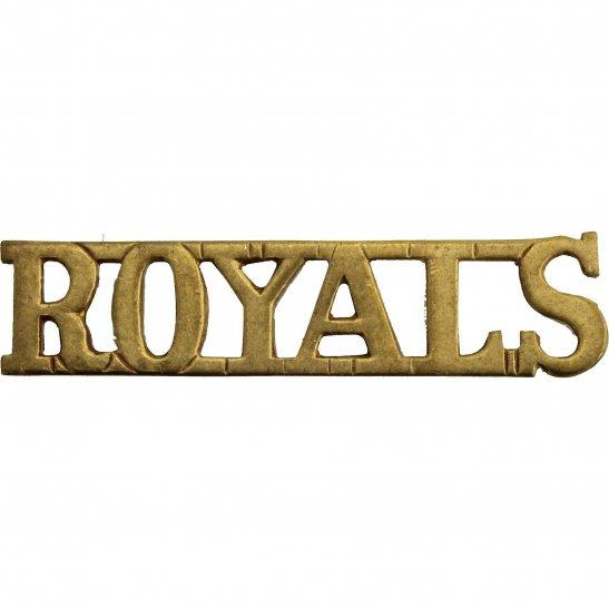 1st Royal Dragoons 1st, The Royal Dragoons (Royals) Regiment Shoulder Title