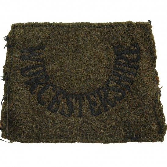 Worcestershire Regiment WW2 Worcestershire Regiment Cloth SLIP ON Shoulder Title Badge Flash