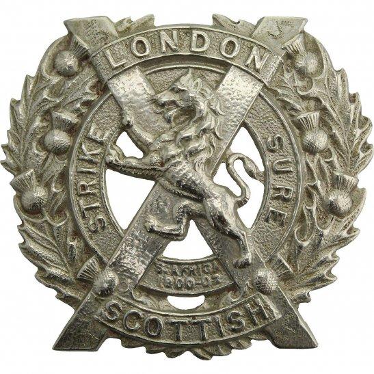 London Scottish 14th Battalion, The London Scottish Regiment Cap Badge