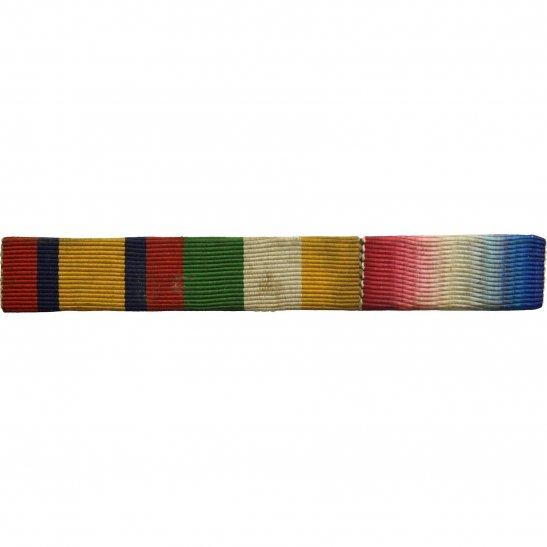 Boer War Queens & Kings South Africa KSA QSA and 1914/15 Star Medal Ribbon Bar - PIN BACK