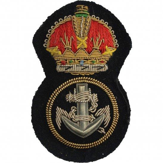 Royal Navy WW2 British Royal Navy Petty Officers Cloth Bullion Cap Badge