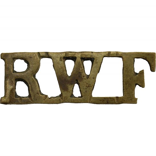 Royal Welsh Fusiliers WW1 Royal Welsh Fusiliers Regiment (Welch) RWF Shoulder Title