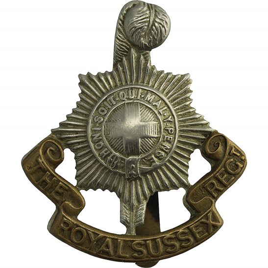 Royal Sussex WW1 Royal Sussex Regiment Cap Badge