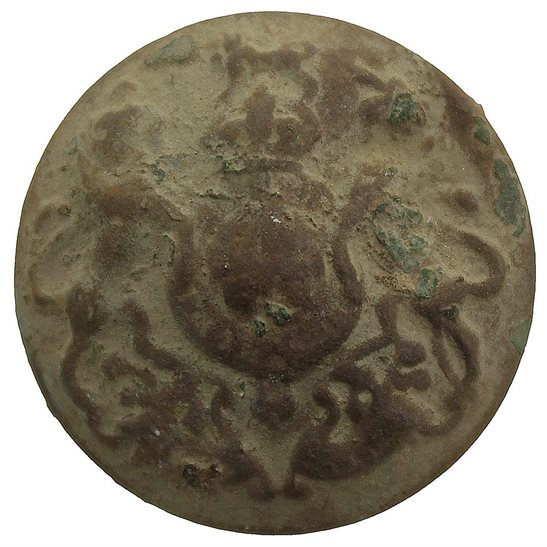 General Service Corps UK Dug Detecting Find - WW1 British General Service Relic Tunic Button 26mm