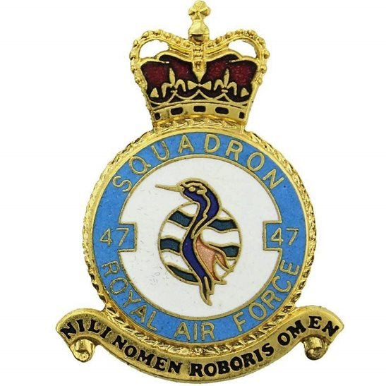 RAF Squadrons 47 Squadron Royal Air Force PLAQUE Badge RAF