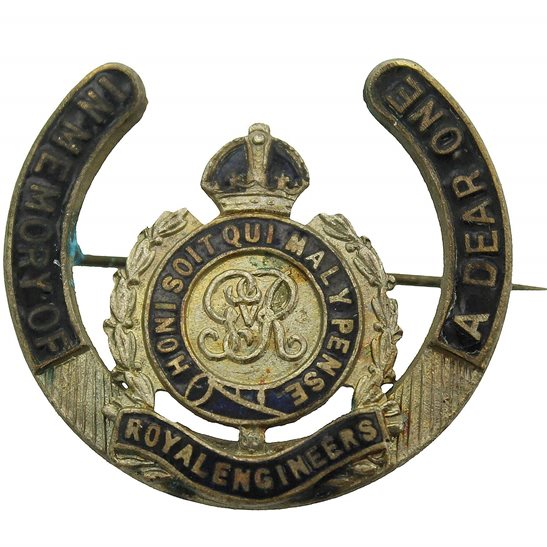 Royal Engineers WW1 Royal Engineers Corps IN MEMORY OF A DEAR ONE Sweetheart Brooch