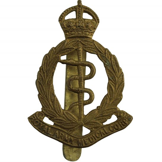 Royal Army Medical Corps RAMC WW2 Royal Army Medical Corps RAMC Cap Badge