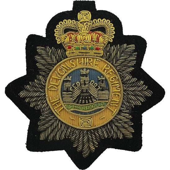 Devonshire Regiment Devonshire Regiment Devon Cloth Wire BULLION Veterans Blazer Badge Patch