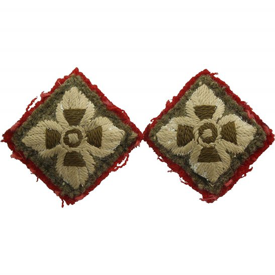 WW2 British Army Officers Insignia Pips - Rank of 2nd Lieutenant Set PAIR