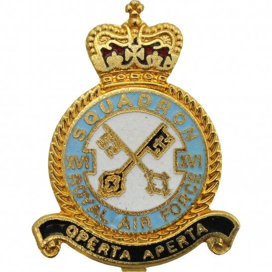 RAF Squadrons XVI 16 Squadron Royal Air Force RAF Lapel Badge