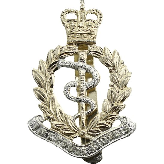 Royal Army Medical Corps RAMC Royal Army Medical Corps RAMC Staybrite Anodised Cap Badge - Staybright