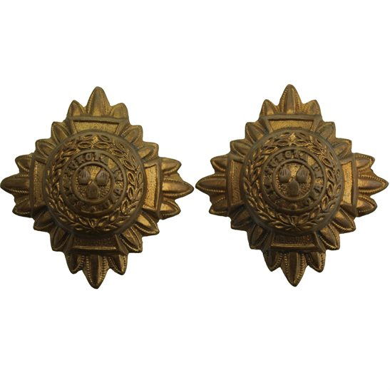 British Army Officers Insignia Pips - Rank of 2nd Lieutenant Set PAIR - 30mm Diagonally