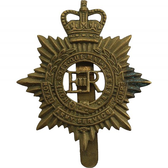 Royal Army Service Corps RASC Royal Army Service Corps RASC (Elizabeth II) Cap Badge - Queens Crown