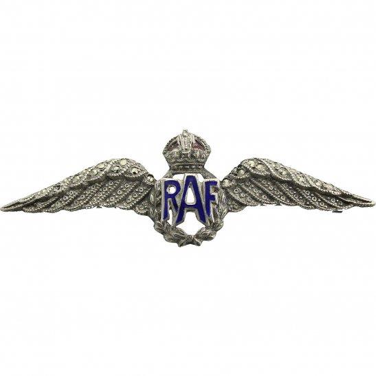 Royal Air Force RAF WW2 Royal Air Force RAF Wings Sweetheart Brooch - 62mm