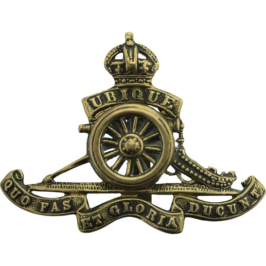 Royal Artillery Royal Artillery Regiment MOVING / ROTATING WHEEL VERSION Cap Badge