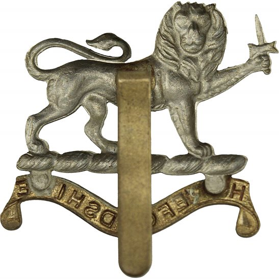 additional image for WW1 Herefordshire Light Infantry Regiment Cap Badge - FIRST PATTERN