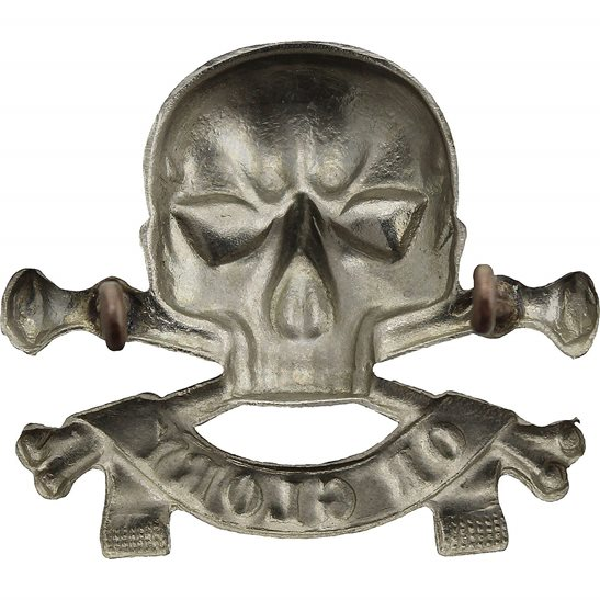 additional image for WW1 17th Lancers Deaths Head (Duke of Cambridge's Own) Regiment Cap Badge