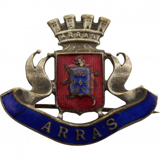 WW1 Arras Town / France Battlefield Sweetheart Brooch