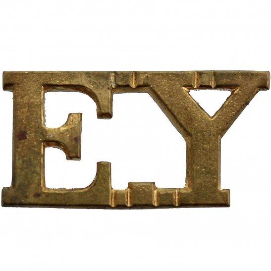 Essex Yeomanry Essex Yeomanry Regiment EY Shoulder Title