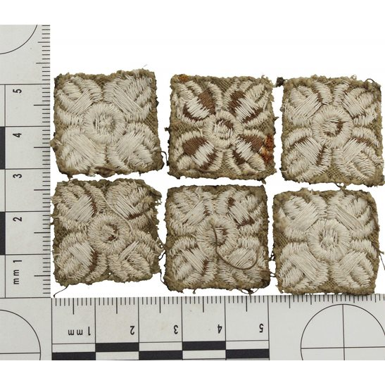 additional image for WW1 British Army Officers CLOTH Insignia Pips - Rank of Captain Cuff PAIR