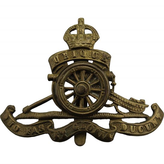Royal Artillery WW1 Royal Artillery Regiment MOVING / ROTATING WHEEL VERSION Cap Badge