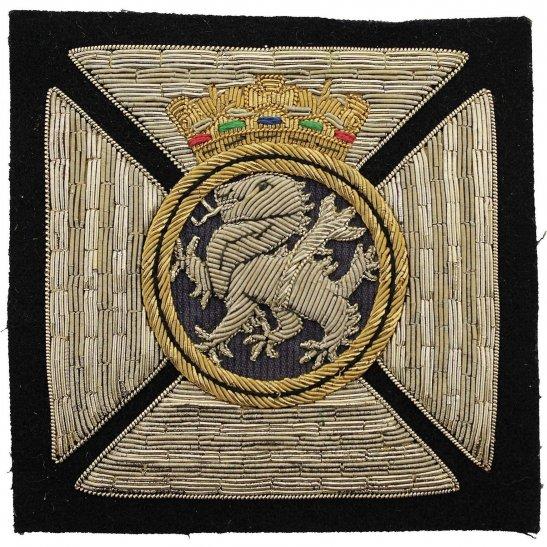 Duke of Edinburghs Royal Regiment Cloth Wire BULLION Veterans Blazer Badge Patch