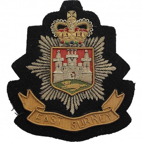 East Surrey East Surrey Regiment Cloth Wire BULLION Veterans Blazer Badge Patch