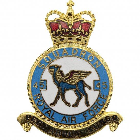 RAF Squadrons 45 Squadron Royal Air Force PLAQUE Badge RAF
