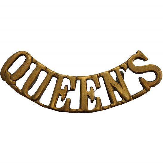 Queens West Surrey Queens Royal West Surrey (Queen's) Regiment Shoulder Title