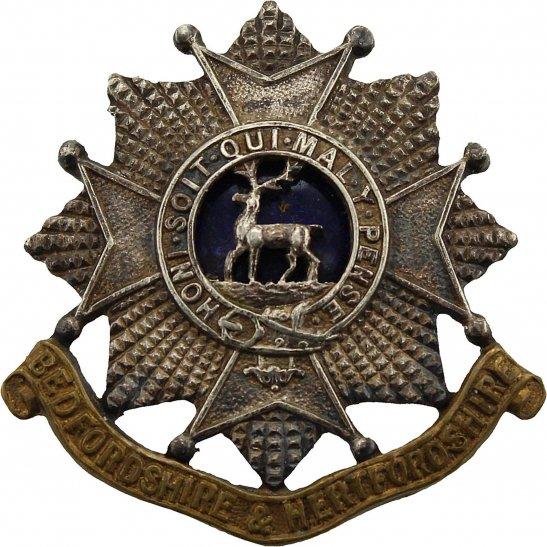 Bedfordshire and Hertfordshire WW2 Bedfordshire and Hertfordshire Regiment OFFICERS Bi-Metal Collar Badge